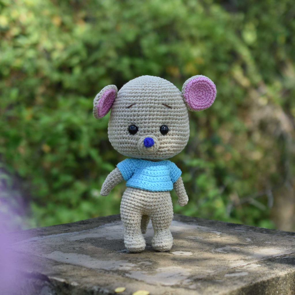 Amigurumi Roo, Little Mouse Crochet, Winnie The Pooh Gift, Handmade Gift, Plush Toy for Kid