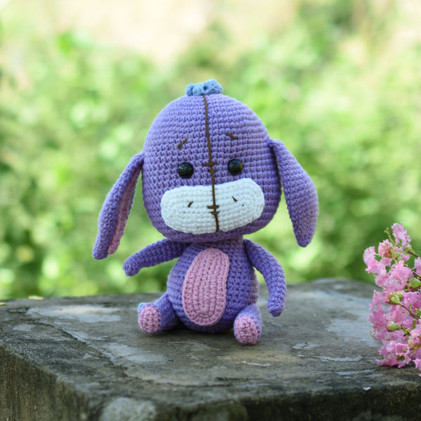 Amigurumi Eeyore, Eeyore Plushie, Crochet Plush, Eeyore Toy, Stuffed Animal, Winnie The Pooh Gift