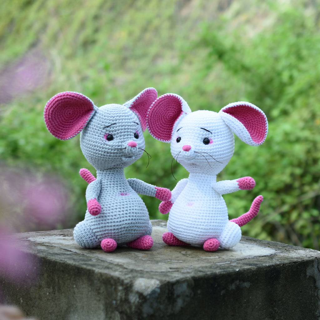 Cute Little Mouse , Mouse Crochet Toy For A Newborn Or Child Gift, Newborn Shower