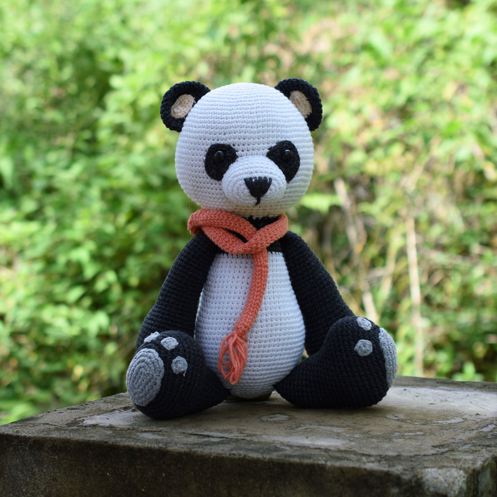 Panda Bear Crochet Amigurumi, Stuffed Cute Animal Plush Toy Kid Gift