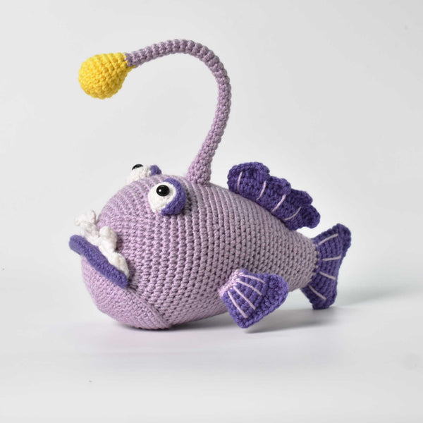 Amigurumi Crochet Angler Fish, Sea Creature, crochet toy, Stuffed Fish Toy