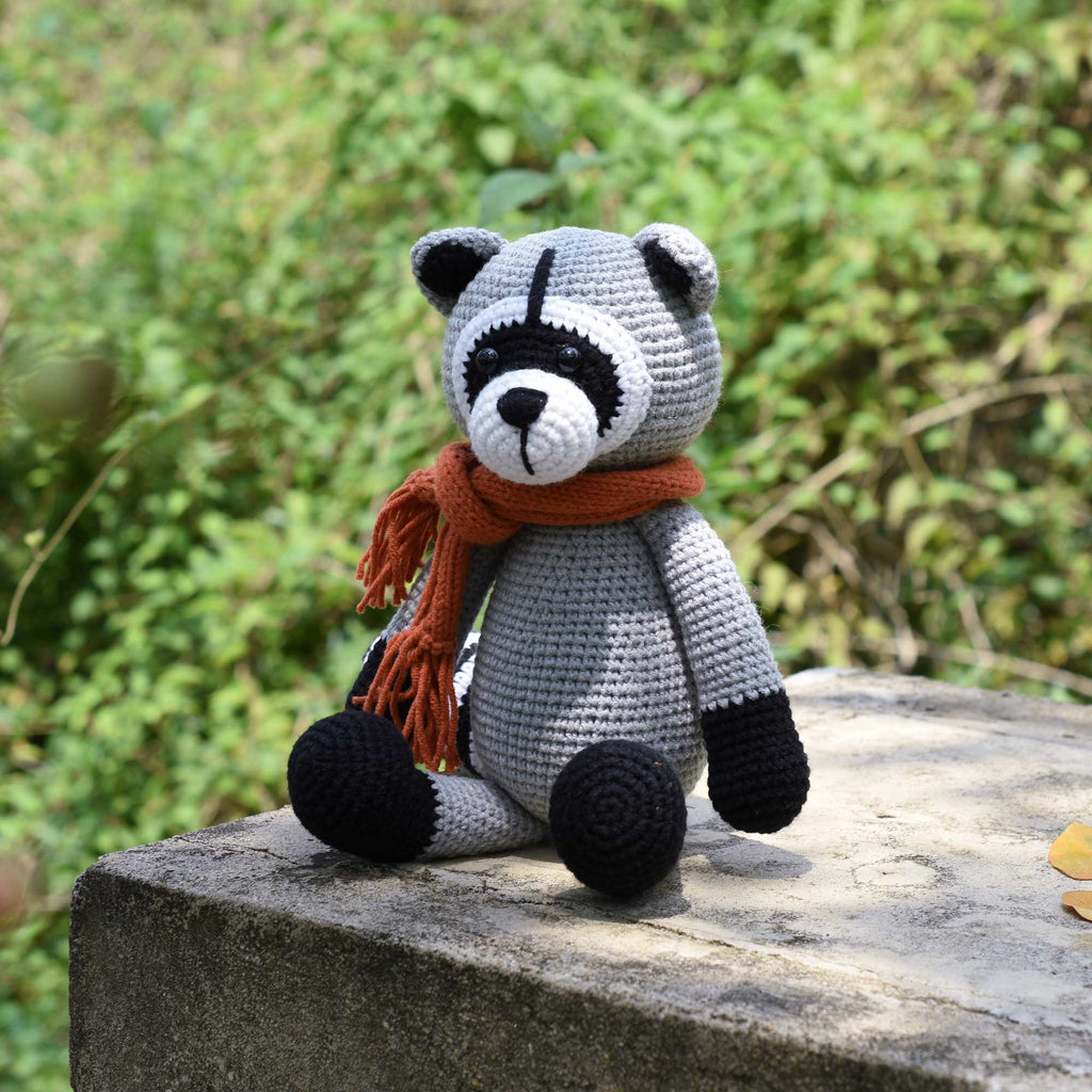 Amigurumi Raccoon - Wild Animal Crochet - Stuffed Toy - Handmade - High Quality