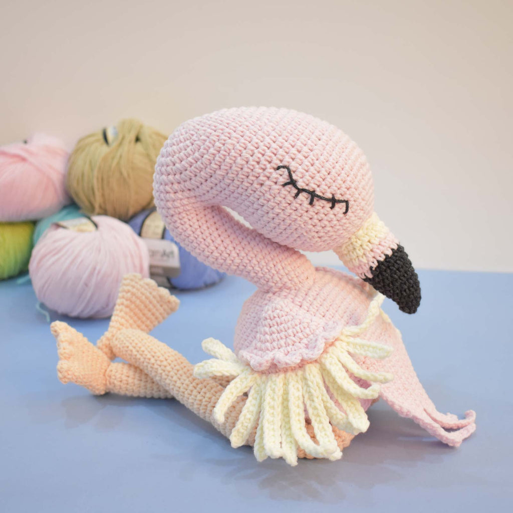 Flamingo - Bird - Handmade Crochet - Kid Toy - Stuffed Animal - Amigurumi Animal - SaiGonDoll