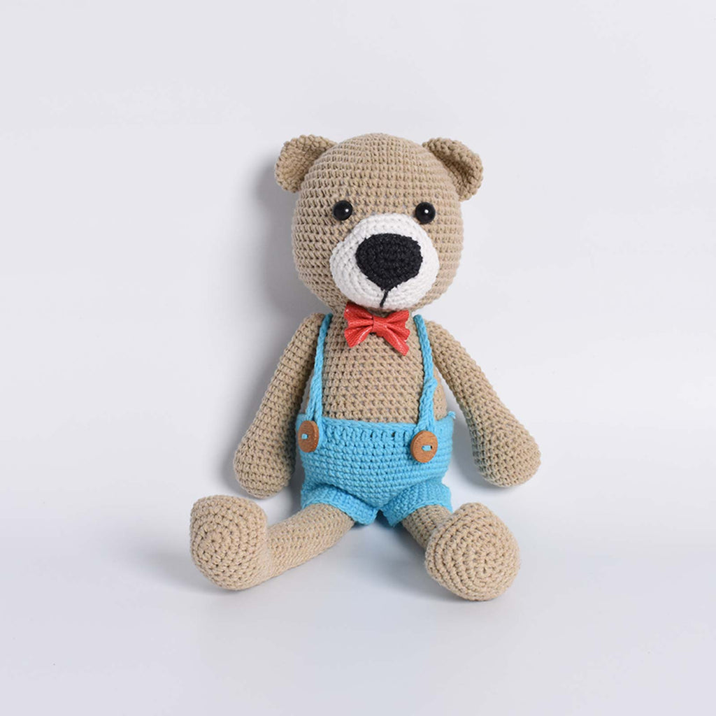 Hipster Bear Crochet Animal Handmade Amigurumi Stuffed Toy Doll High Quality - SaiGonDoll