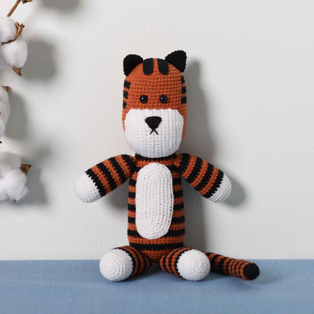 Amigurumi Tiger, Crochet Hobbes, Handmade Stuffed Tiger, Huggable Plush Toy - SaiGonDoll