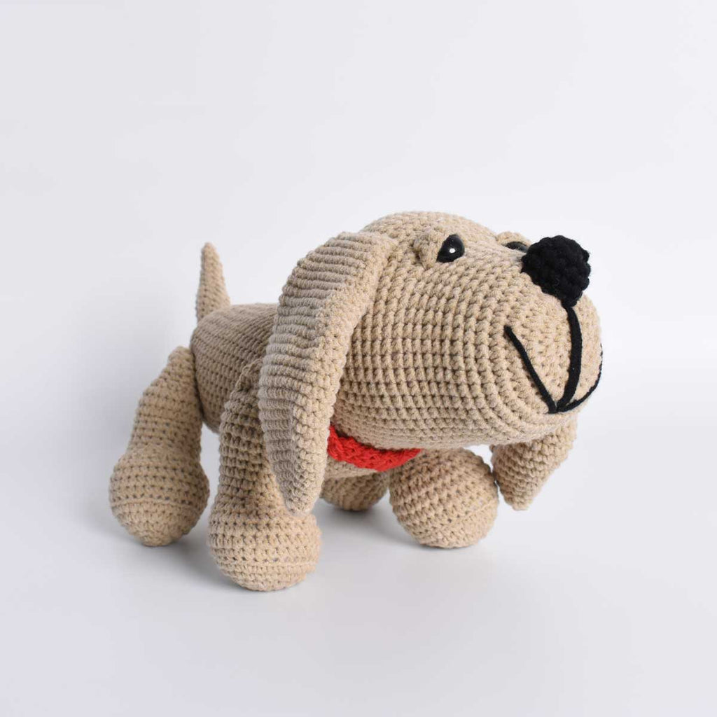 Crochet Dog, Basset Hound Dog, Stuffed Puppy, Animal Toy, Handmade Crochet Gift - SaiGonDoll
