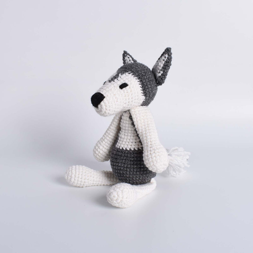 Husky Dog Amigurumi Animal Crochet Stuffed Dog Kid Plush Toy High Quality - SaiGonDoll