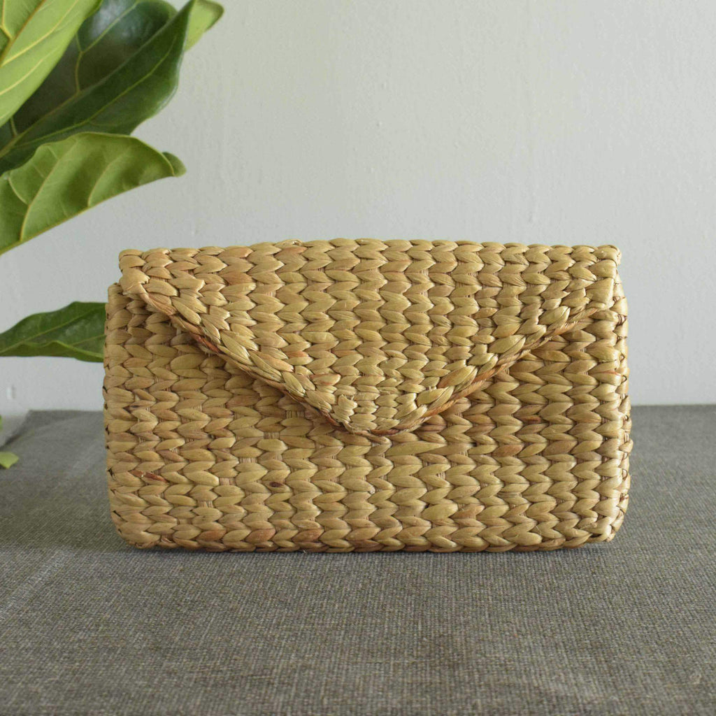 Clutch Bag Hyacinth Clutch Handmade Woven Vegan & Eco-Friendly Wallet / Handbag - Saigonmade