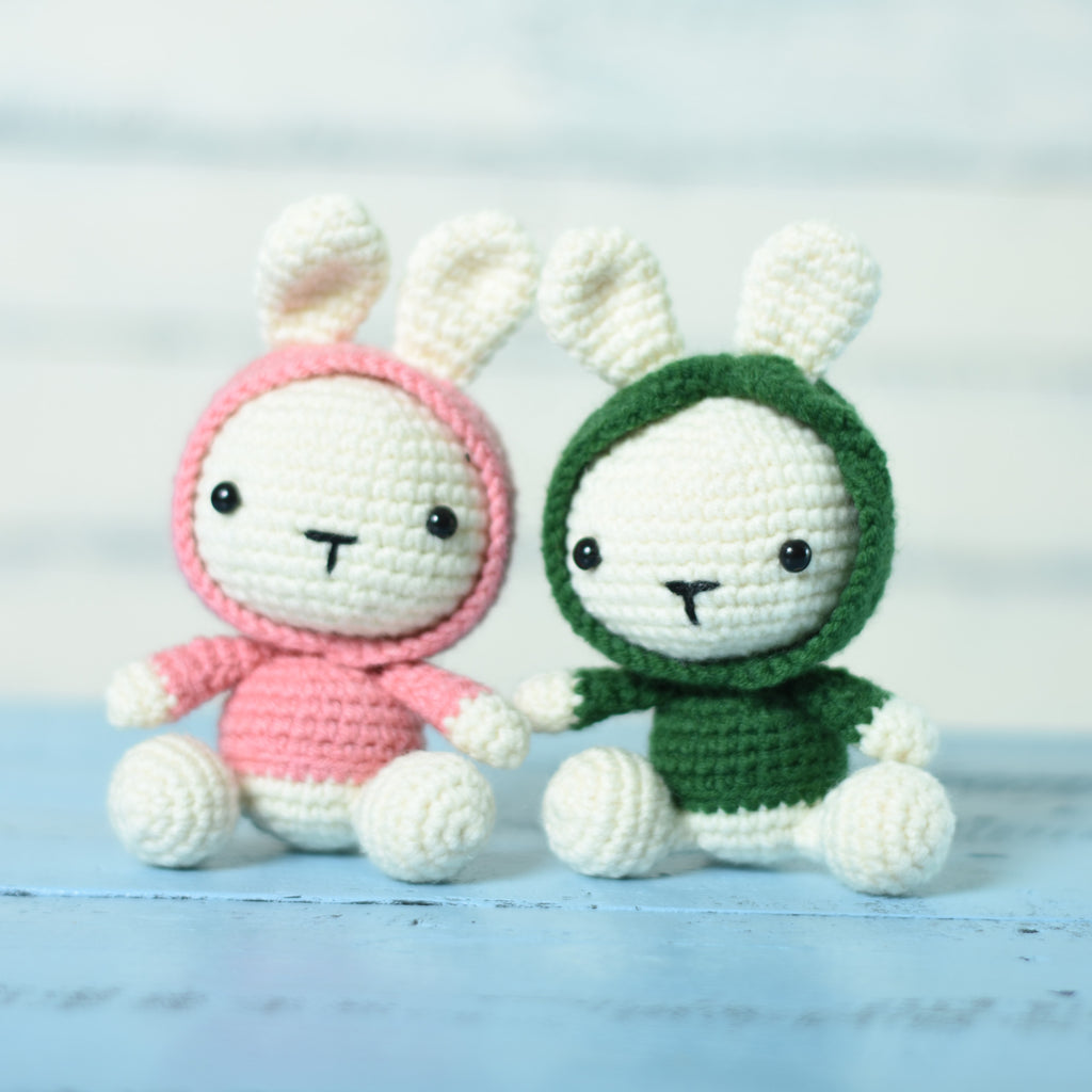Amigurumi Rabbit , Bunny Crochet Toy For A Newborn Or Child Gift, Newborn Shower - SaiGonDoll
