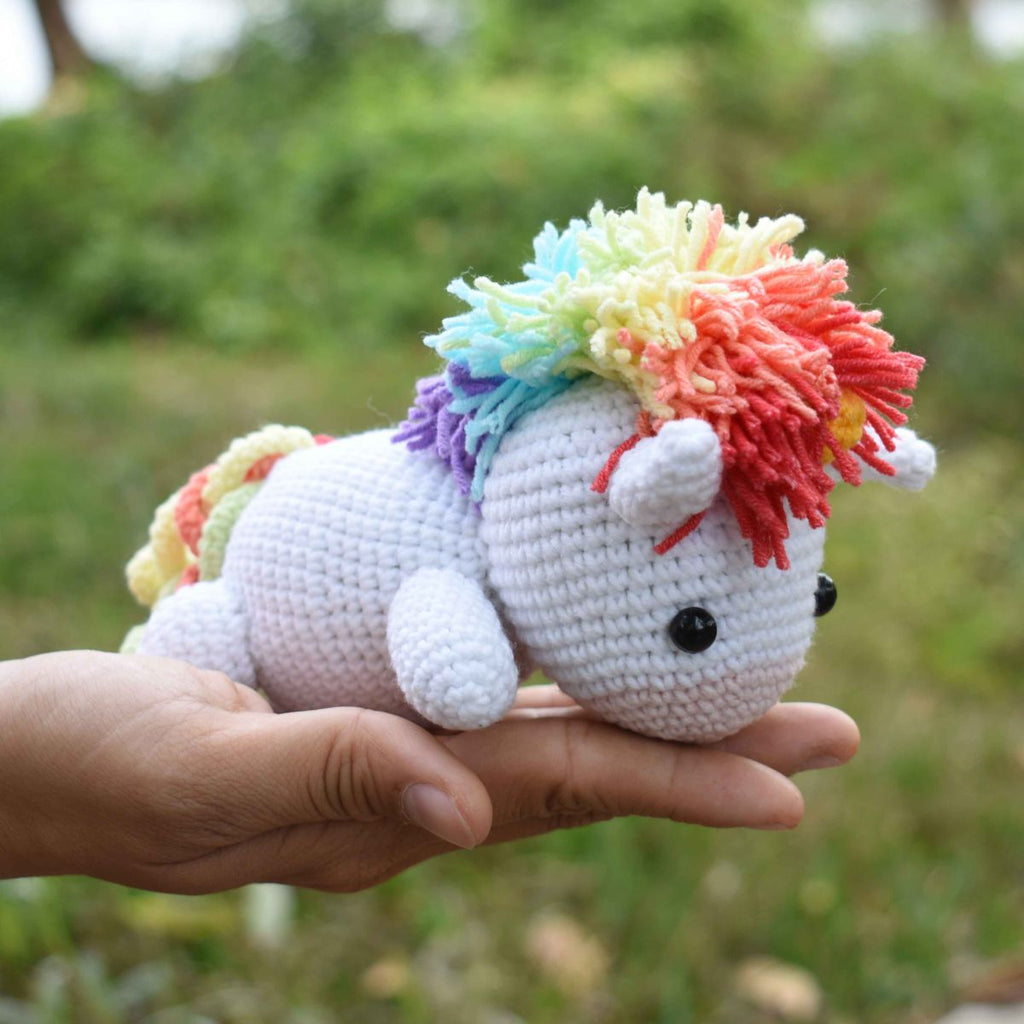 Lazy Unicorn Crochet Animal, Stuffed Toy, Baby Shower & First Birthday Gift - SaiGonDoll