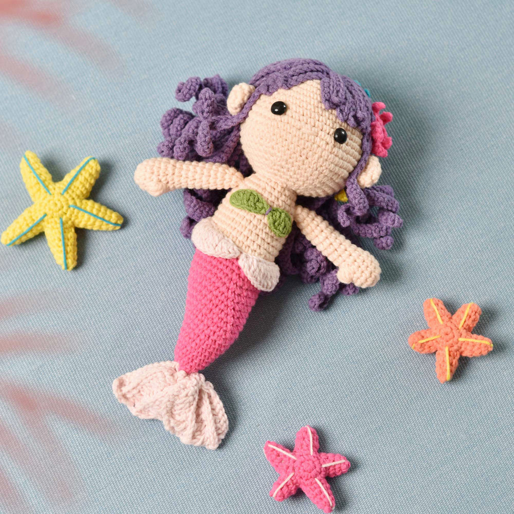 Amigurumi Mermaid, Stuffed Mermaid, Handmade Mermaid, Griffin Doll, Mermaid Gift - SaiGonDoll