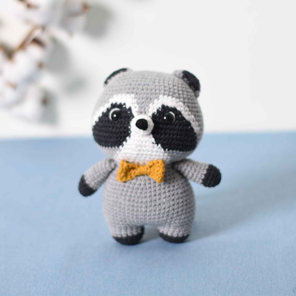 Amigurumi Raccoon, Crochet Raccoon, Raccoon Stuffed Animal, Animal Plushie - SaiGonDoll