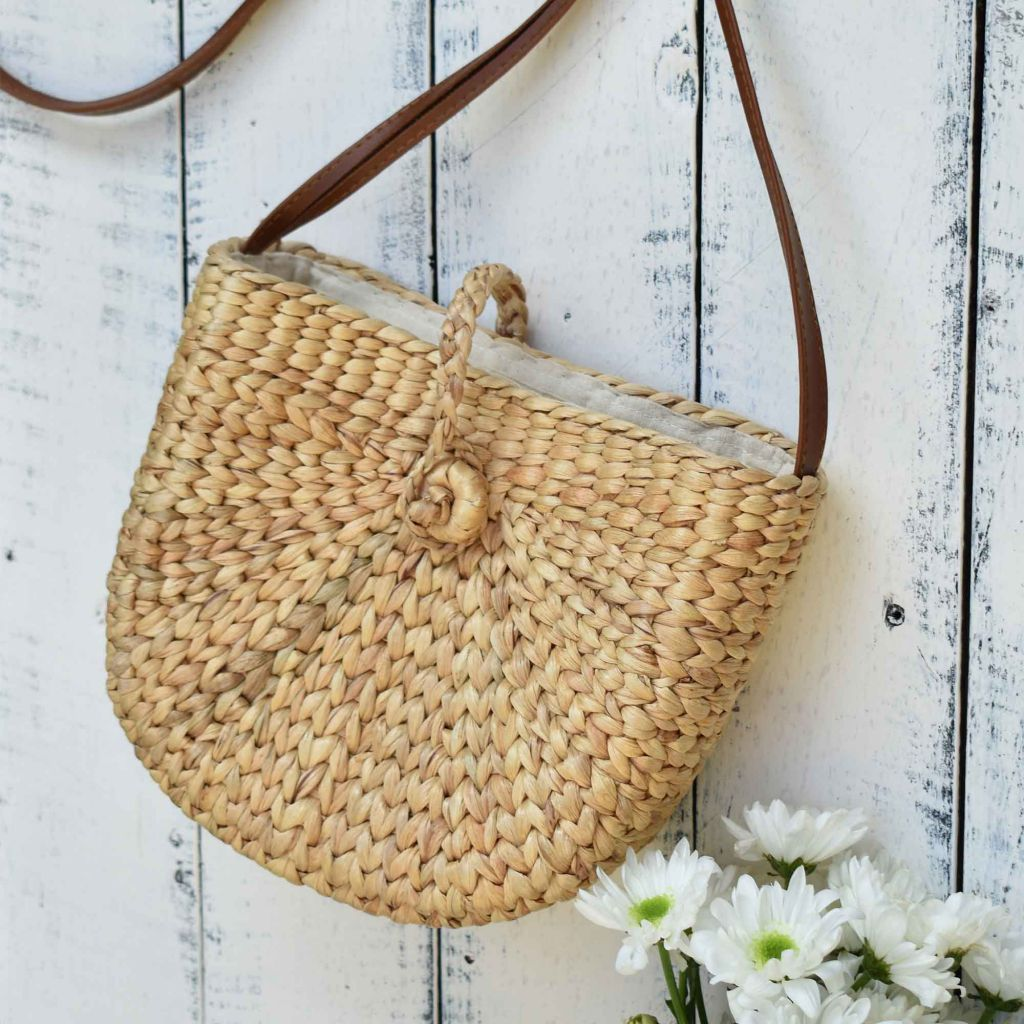 Water Hyacinth Bag, Straw Bag, Woven Bag, Beach Bag, Crossbody Bag, Shoulder Bag - Saigonmade
