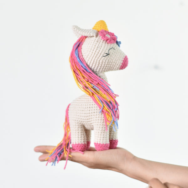 Crochet Unicorn, Cute Crochet Unicorn, Amigurumi Unicorn, Handmade Gift For Girl - Saigonmade