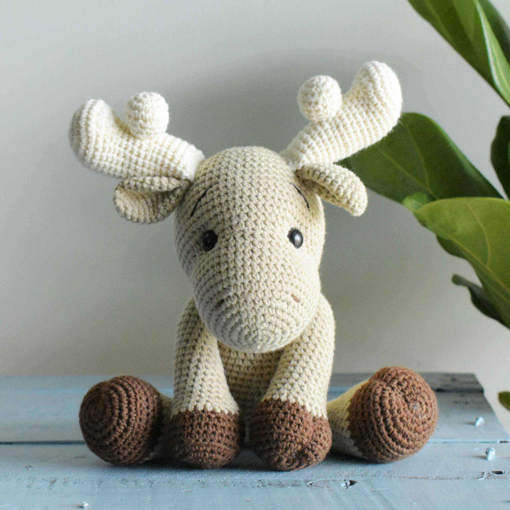Moose Crochet ELK Amigurumi Stuffed Deer Handmade Plush Toy Doll High Quality - SaiGonDoll