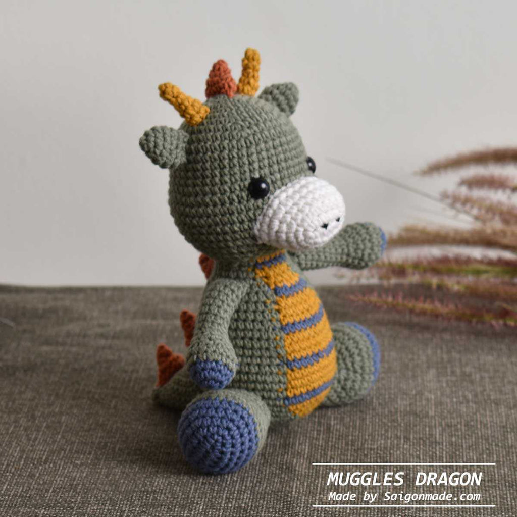Little Muggles Dragon Amigurumi Handmade Stuffed Toy Gift For Kid - Decorative - SaiGonDoll