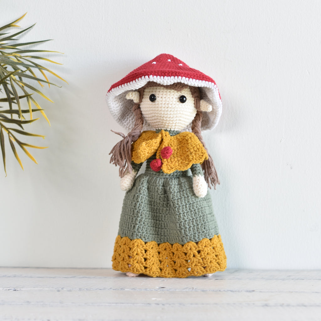 Mushroom Fairy Crochet, Amigurumi Doll, Fairy Doll, Handmade Gift For Girl - SaiGonDoll