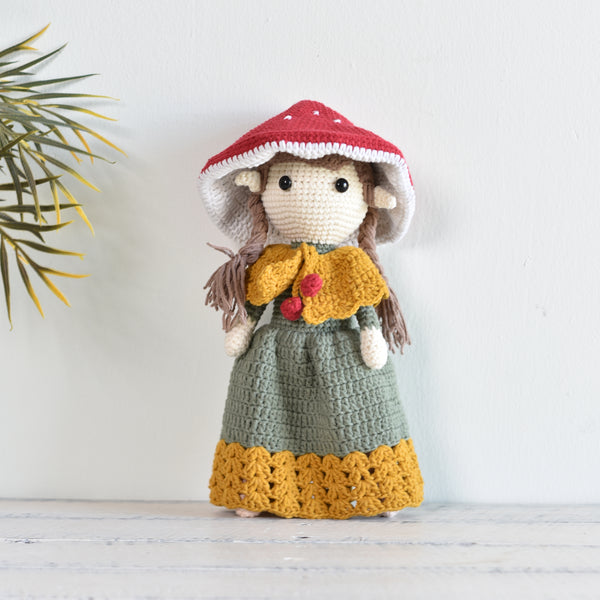 Mushroom Fairy Crochet, Amigurumi Doll, Fairy Doll, Handmade Gift For Girl - Saigonmade