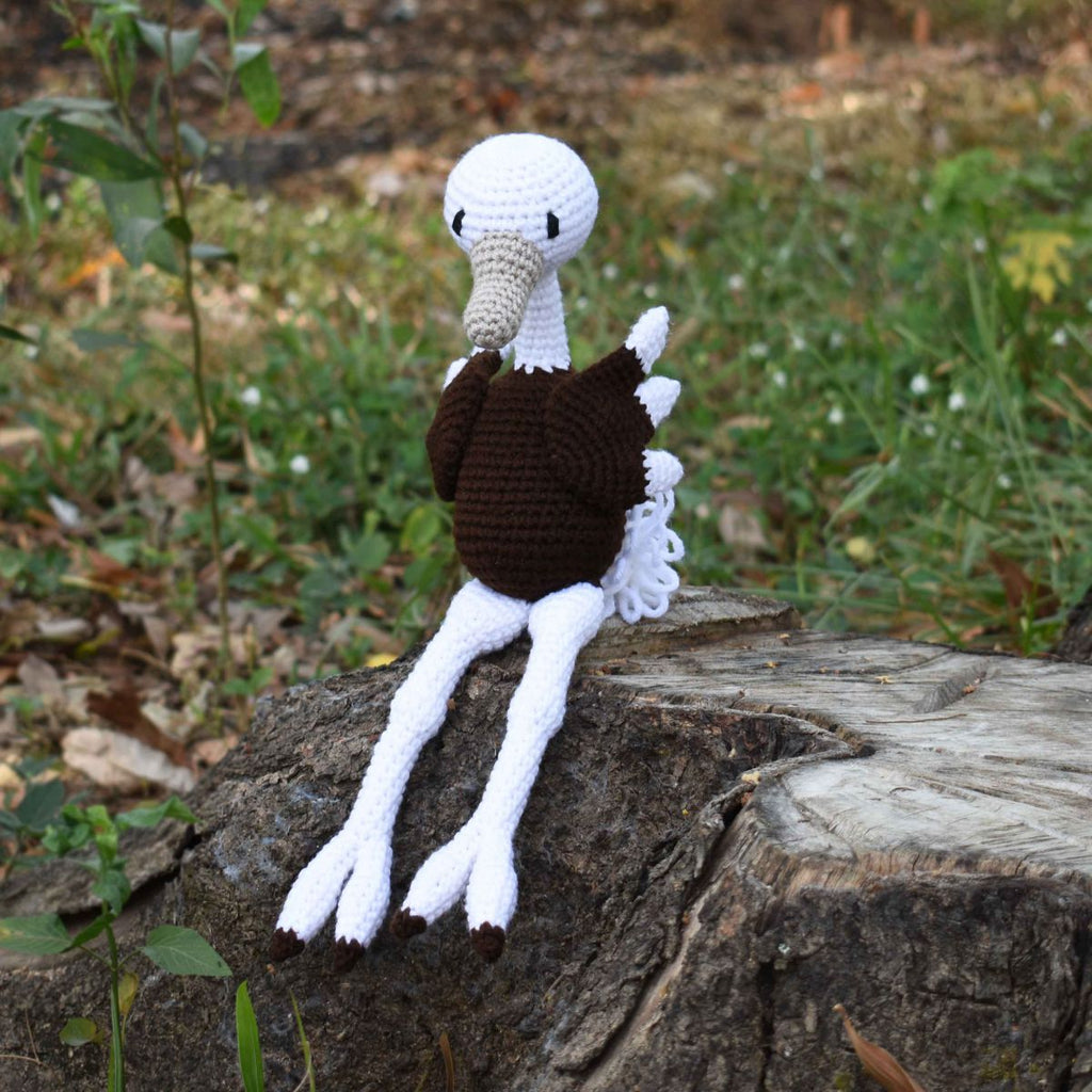 Ostrich Crochet Bird Animal, Stuffed Toy, Baby Shower & First Birthday Gift - SaiGonDoll