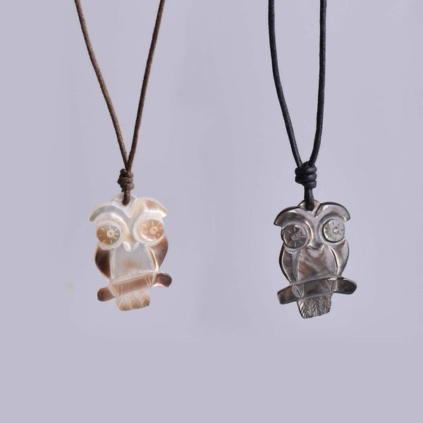 Sea Shell Owl Handmade Charm Pendant Necklace Jewelry - Saigonmade