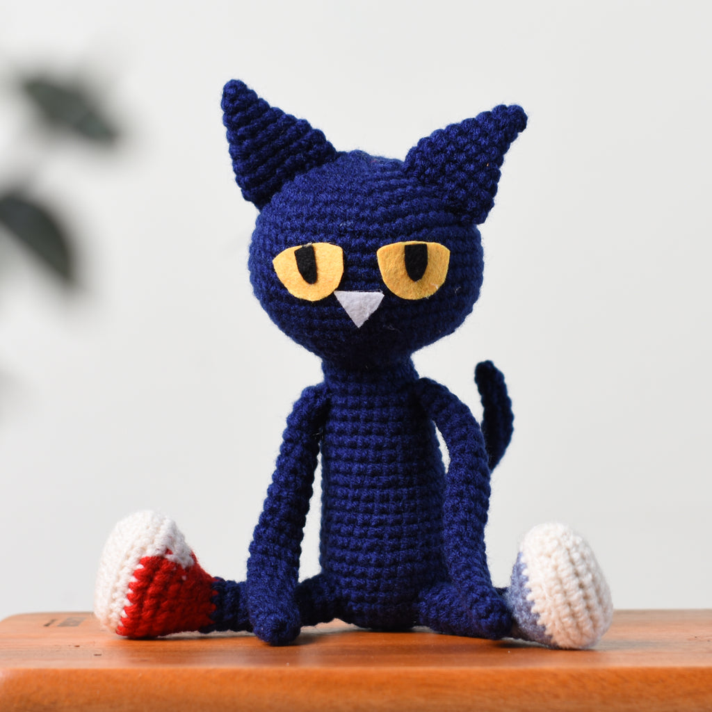 Pete The Cat Crochet, Cat Amigurumi, Handmade Toy, Stuffed Cat Toy, Cat Gift - SaiGonDoll