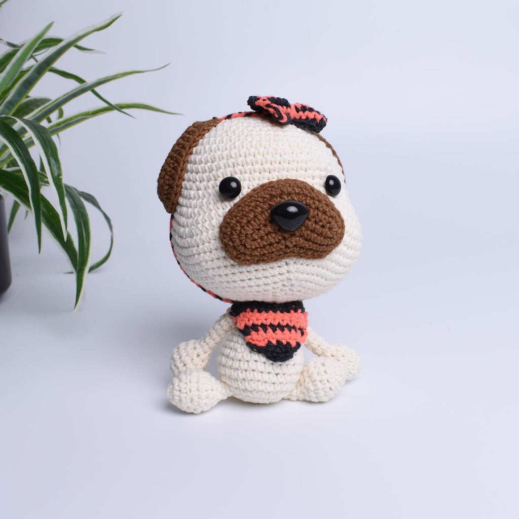 Pug Puppy Dog Crochet Pet Animal Handmade Amigurumi Stuffed Toy Doll - SaiGonDoll