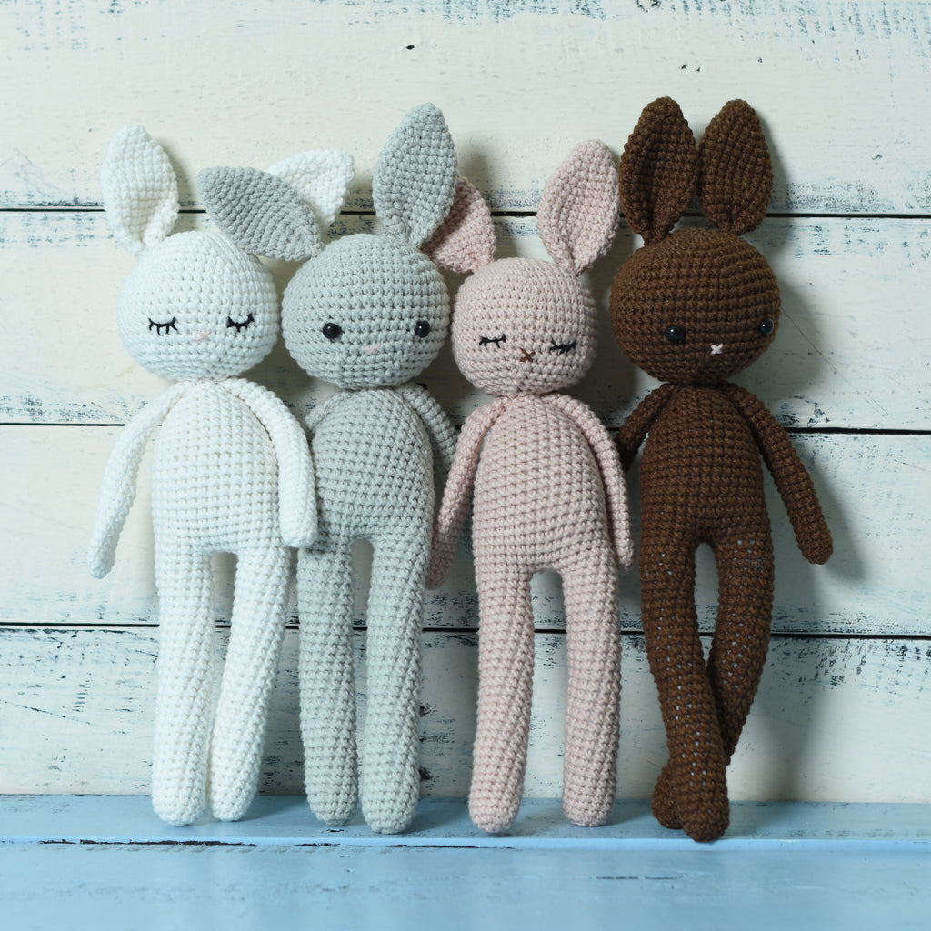 Amigurumi Bunny, Stuff Animal Handmade, Crochet Stuff Animal, Crochet Rabbit Toy - SaiGonDoll