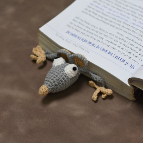 Crochet Rat, Rat Bookmark, Gift For Rat Lover, Bookmark Toy - Saigonmade
