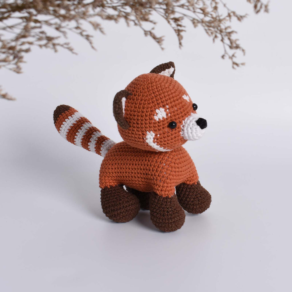 Red Panda, Firefox, Lesser Panda, Amigurumi Crochet Stuffed Kid Toy High Quality - SaiGonDoll
