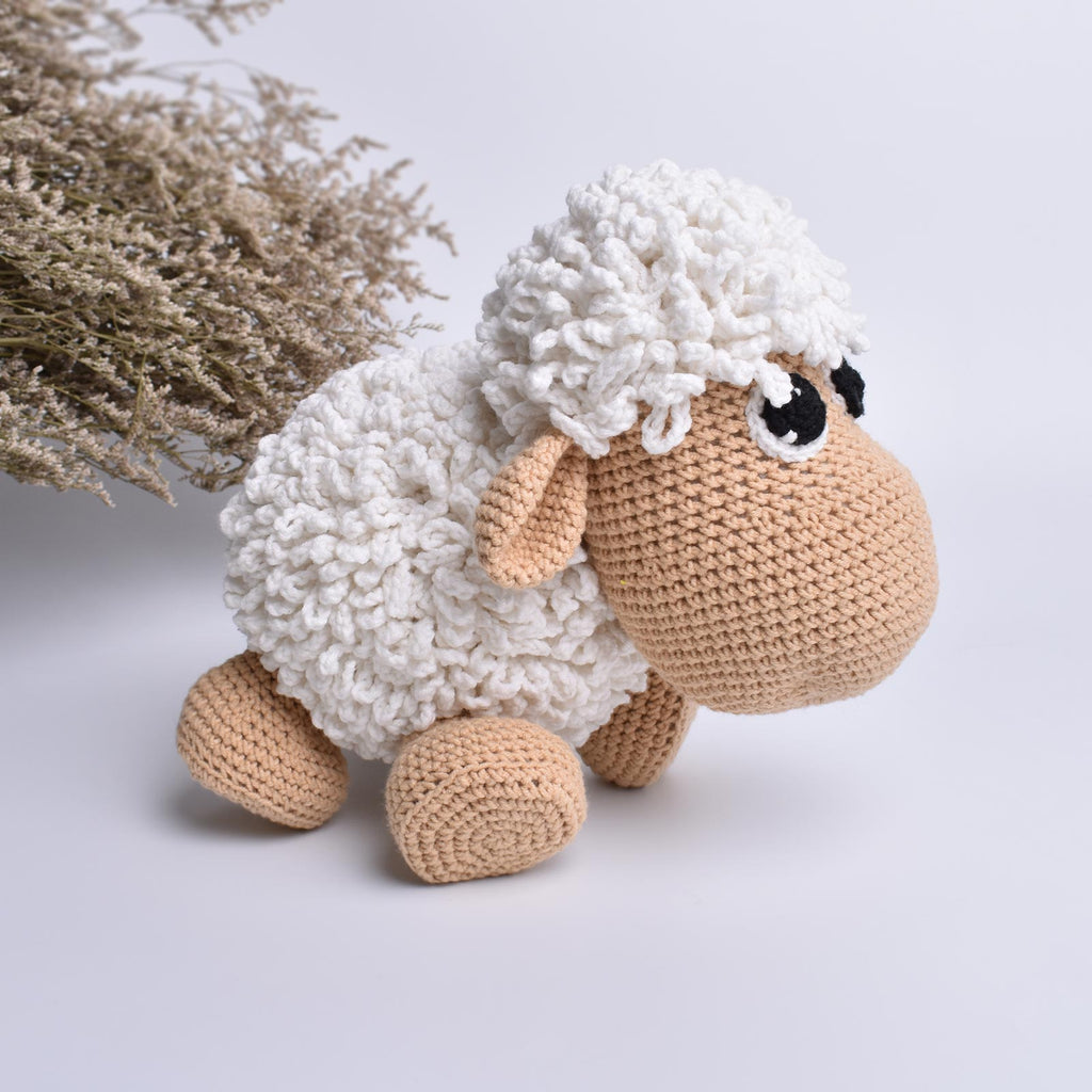 Sheep Crochet Animal Handmade Amigurumi Stuffed Toy Doll High Quality - SaiGonDoll