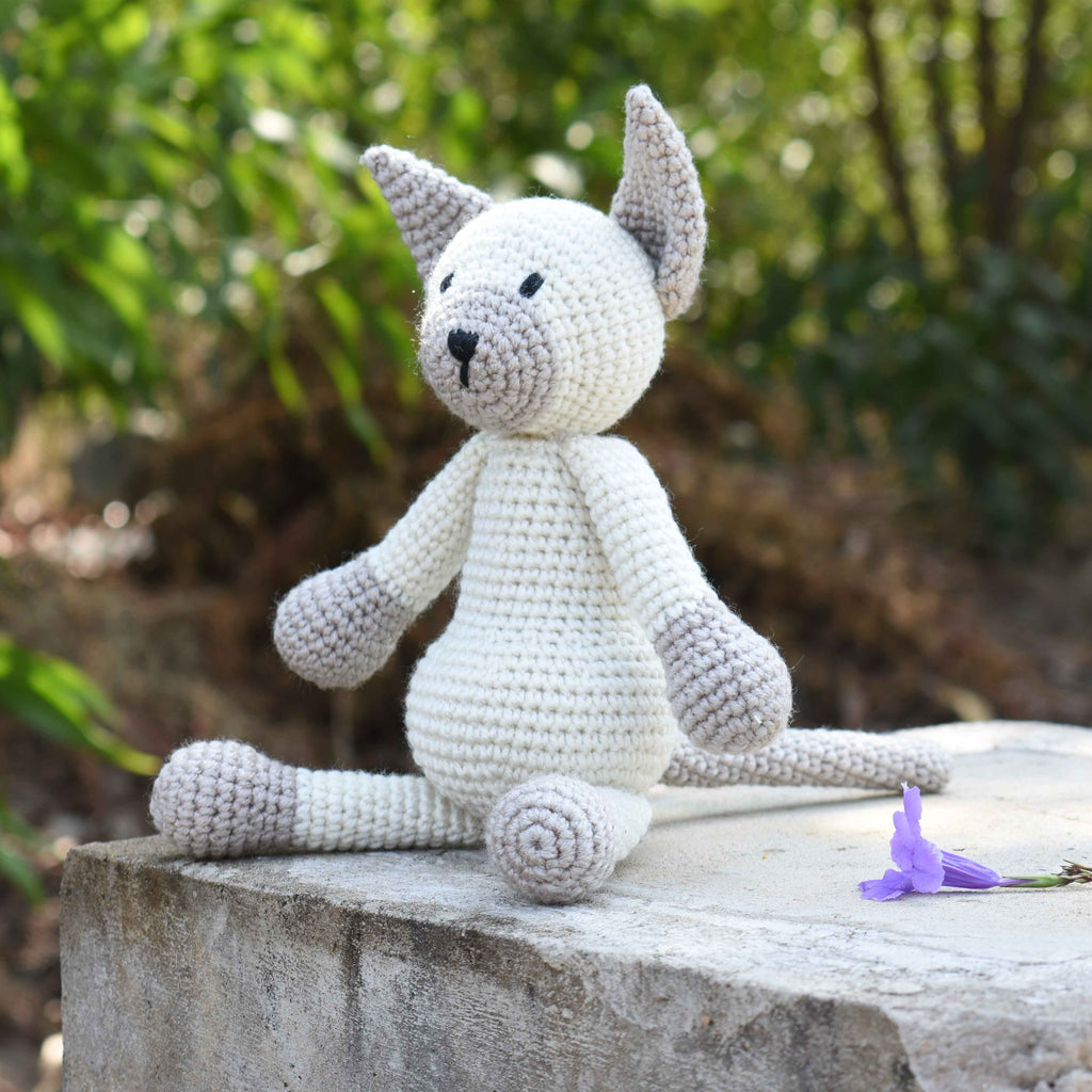 Siamese Cat Stuffed Crochet Animal, Wild Cat, Baby Shower & First Birthday Gift - SaiGonDoll