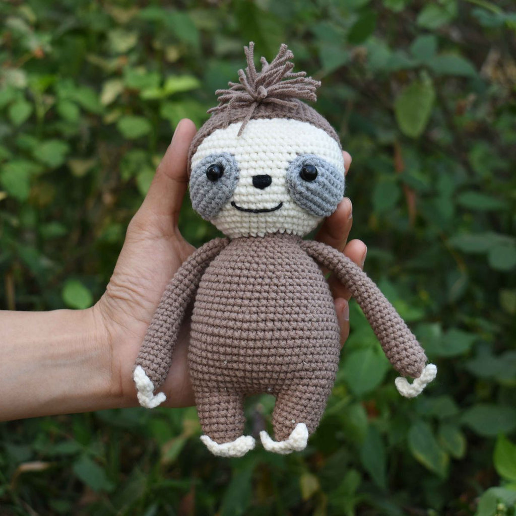 Sloth Crochet Animal, Stuffed Toy, Baby Shower & First Birthday Gift - SaiGonDoll