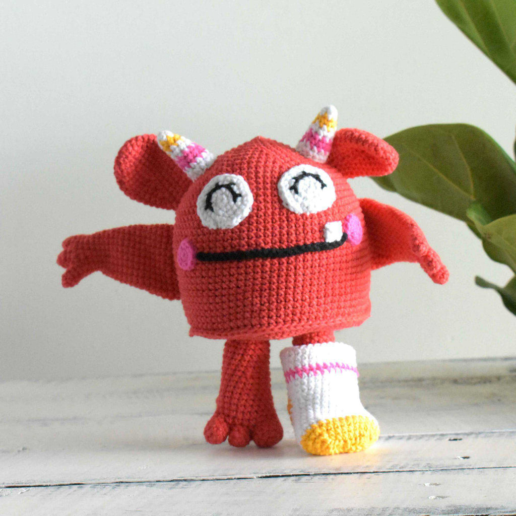The Sock Monster Crochet Stuffed Monster Amigurumi Toy Handmade Gift To Kid - SaiGonDoll