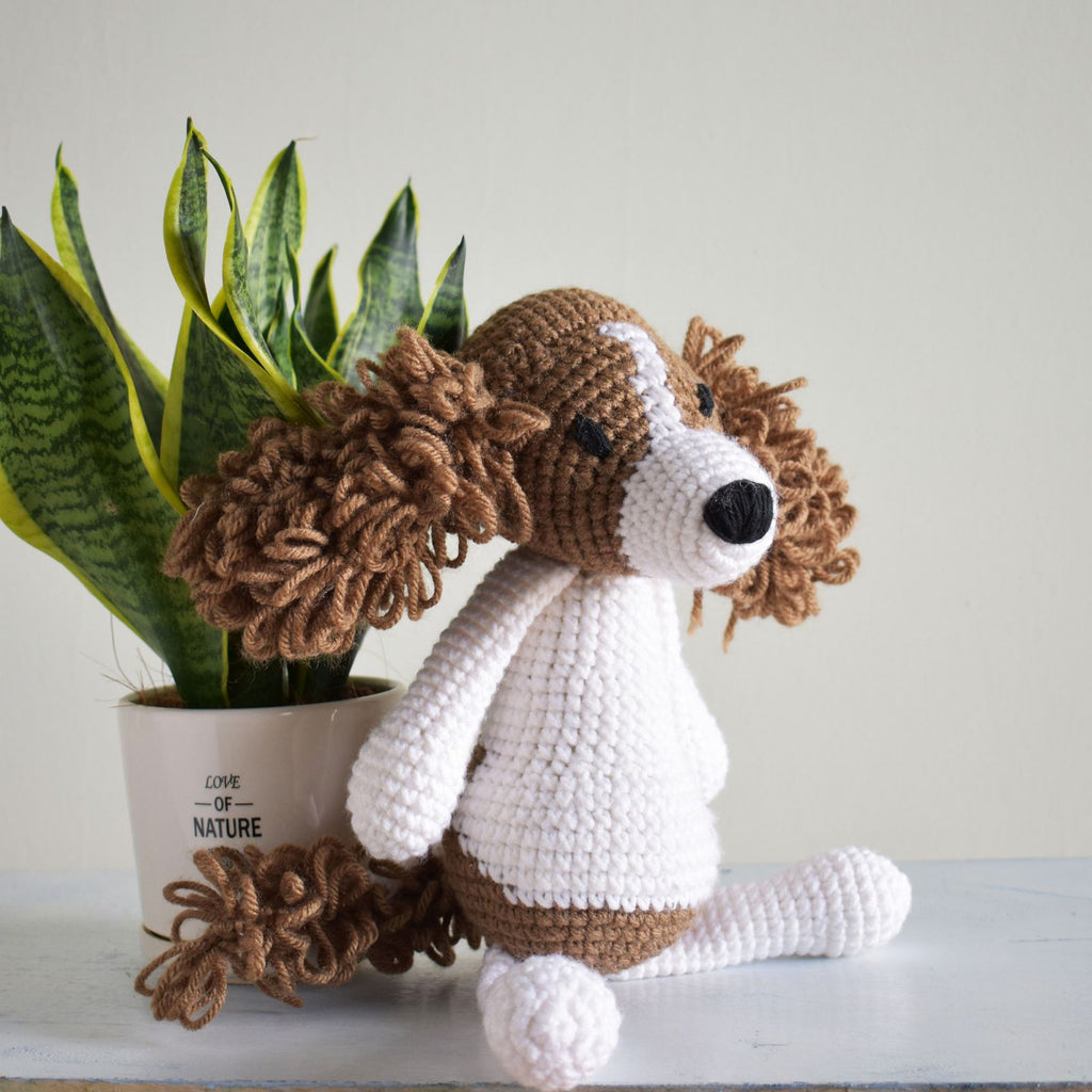Springer Spaniel Crochet Dog Amigurumi, Stuffed Cute Animal Toy High Quality - SaiGonDoll