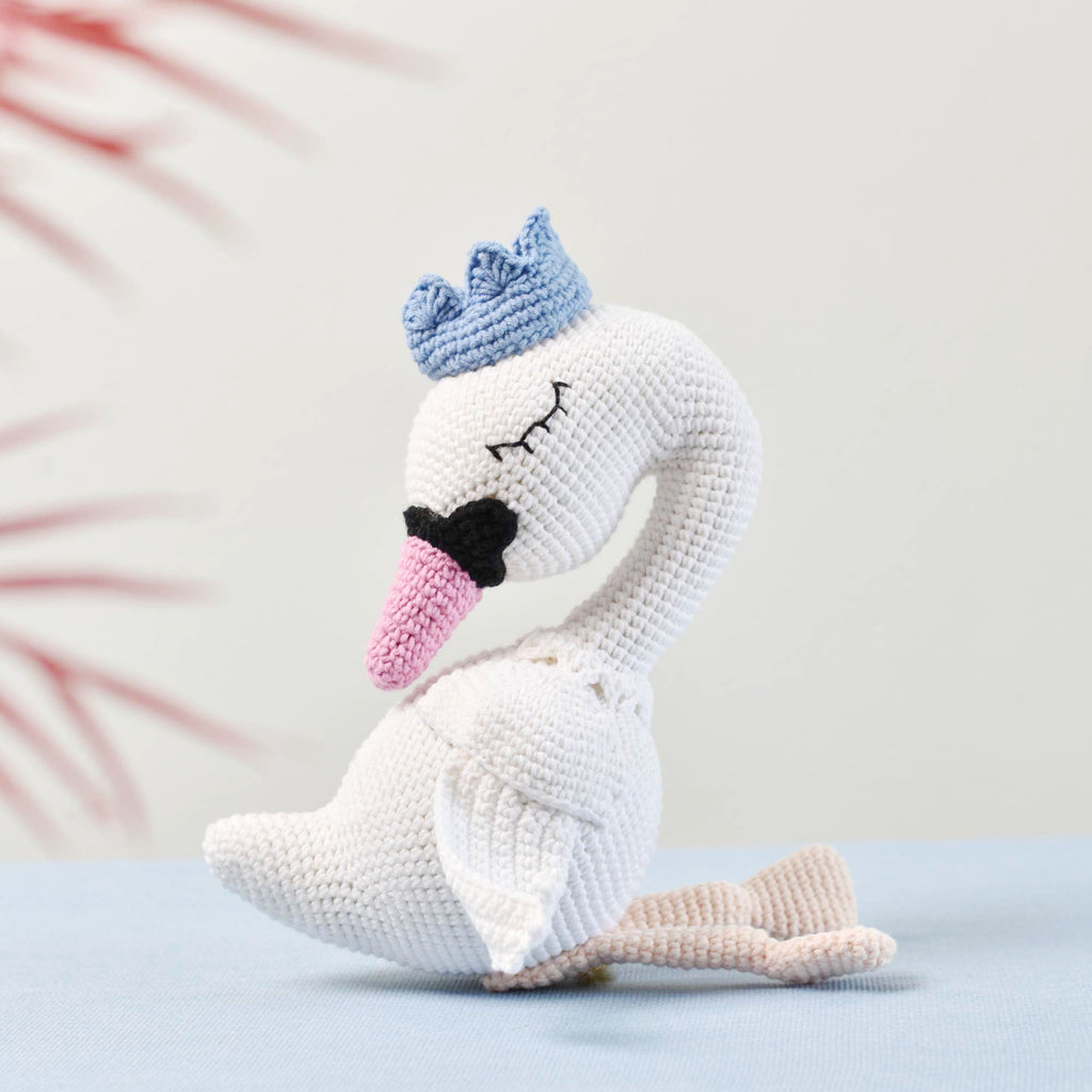 Swan Princess Crochet, Amigurumi Crochet Swan Plush Toy Baby Shower Gift - SaiGonDoll
