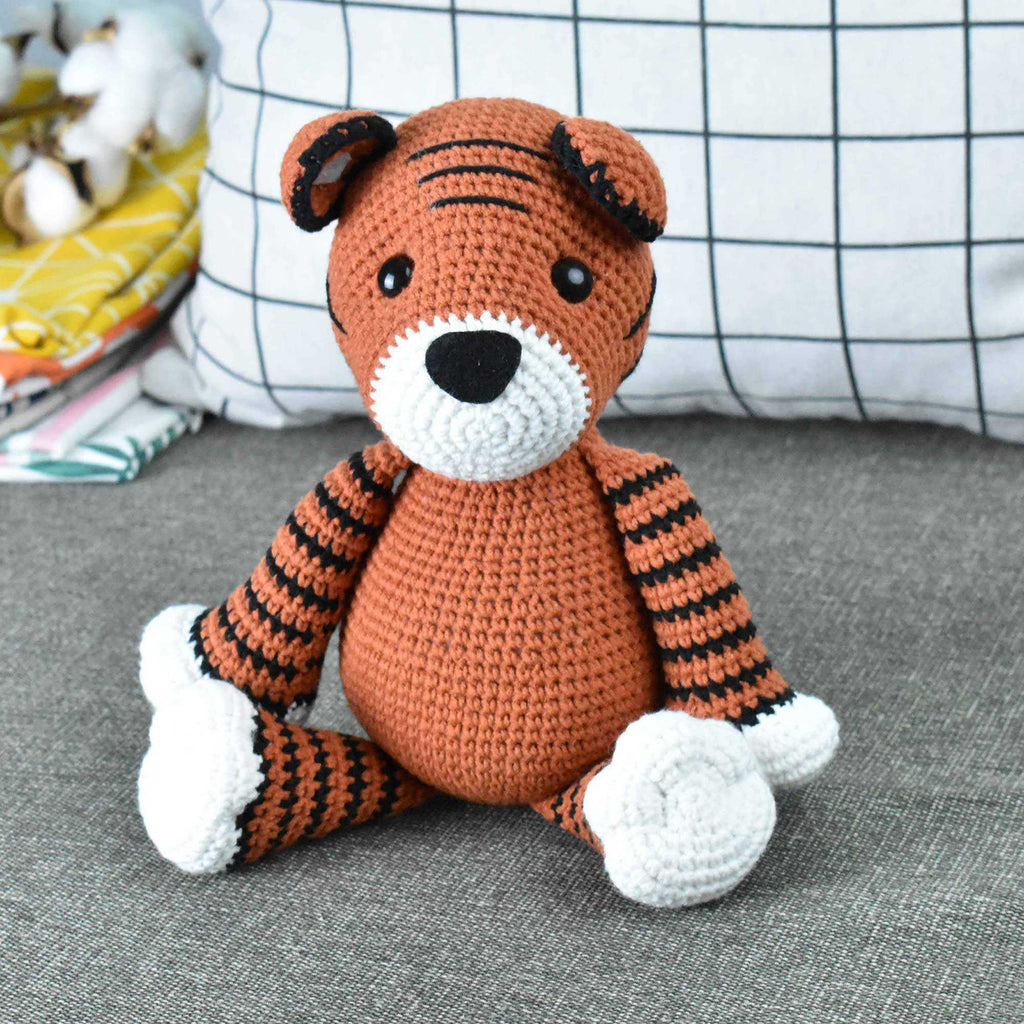 Tiger Crochet Tigress Handmade Stuffed Toy Doll High Quality Gift To Kid - SaiGonDoll