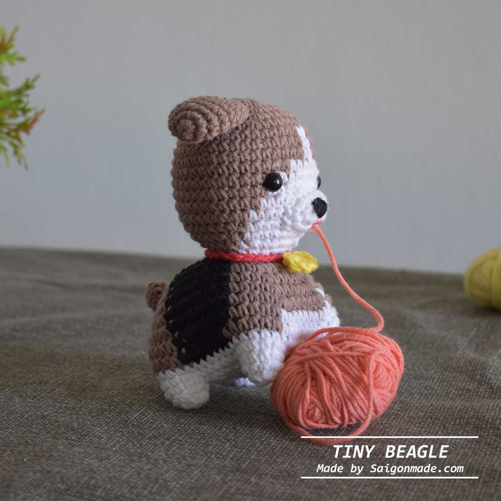 Lovely Beagle Dog - Amigurumi Dog- Handmade Toy- Crochet Dog-  High Quality Yarn - SaiGonDoll
