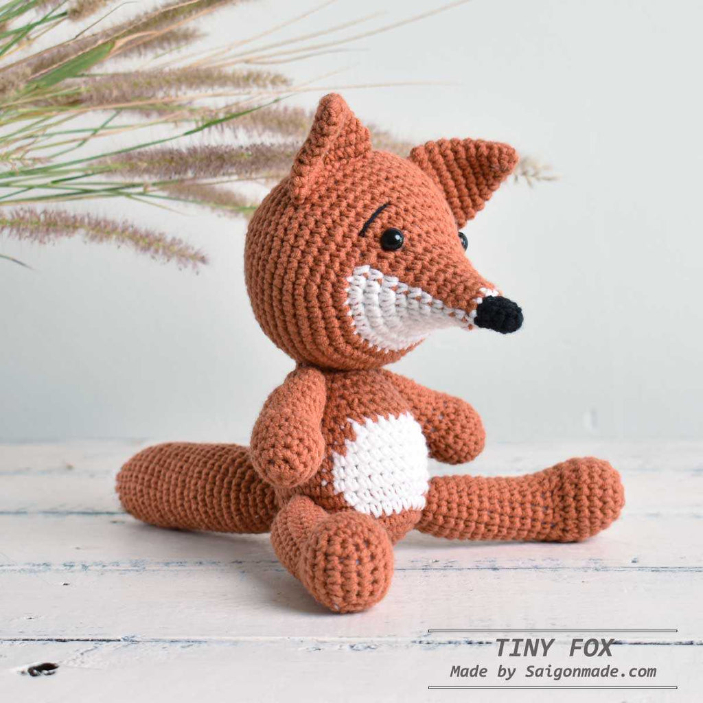 Cute Fox - Gift For Kid- Crochet Fox Handmade Stuffed Fox  Sourvernir Decorative - SaiGonDoll