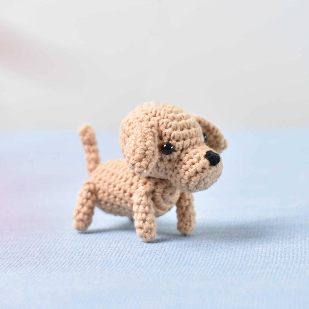 Labrador Retriever Crochet, Miniature Lab, Miniature Dog, Tiny Dog Tiny Labrador - SaiGonDoll