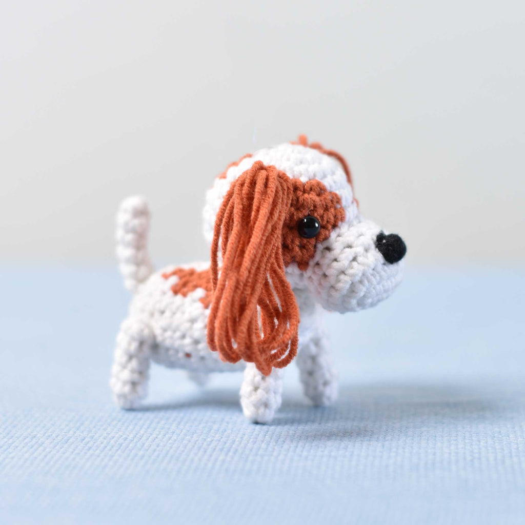Spaniel Dog Crochet, Miniature Crochet Dog, Miniature Dog, Tiny Puppy, Tiny Dog - SaiGonDoll