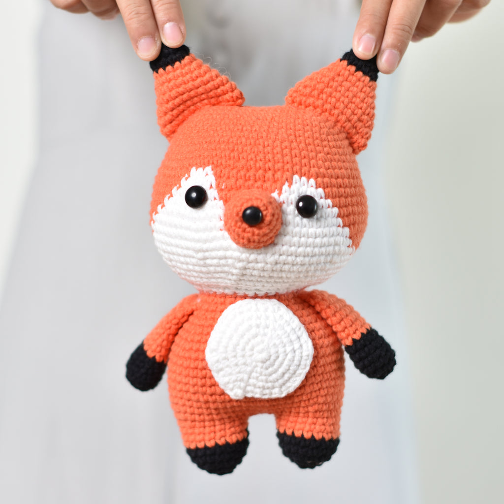 Fox Stuffed Animal, Fox Crochet Amigurumi, Handmade Toy, Cute Crochet Fox - Saigonmade
