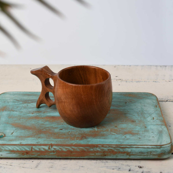 Wooden Cup With Handle - Tea Cup - Wooden Kitchenware, Housewarming Gift