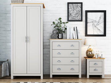 Lancaster 2 Door Wardrobe | Quick Click Furniture London