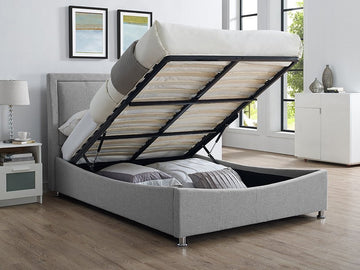 Zeus Fabric Storage Bed | Quick Click Furniture London
