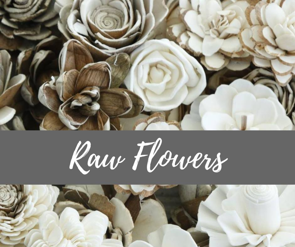 Small Raw Flowers - 100 pack