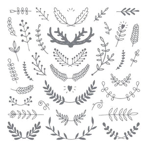 Antler & Branches - Clear Stamp - 12x12
