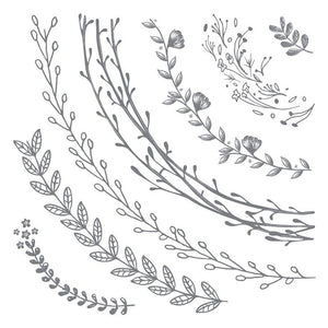 Wreath Sections - Clear Stamp - 12x12