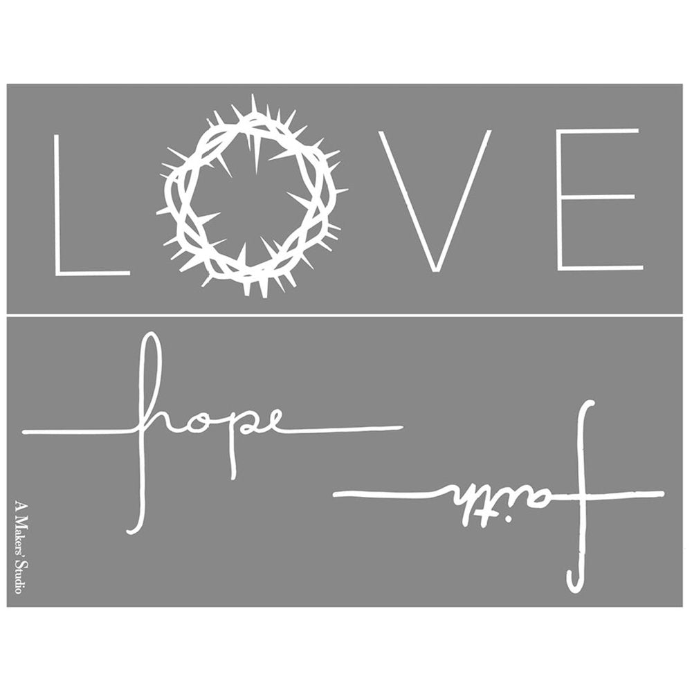 Love Hope and Faith - 8.5x11""