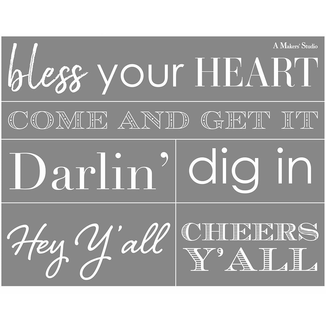 Southern Sayings - 8.5x11""