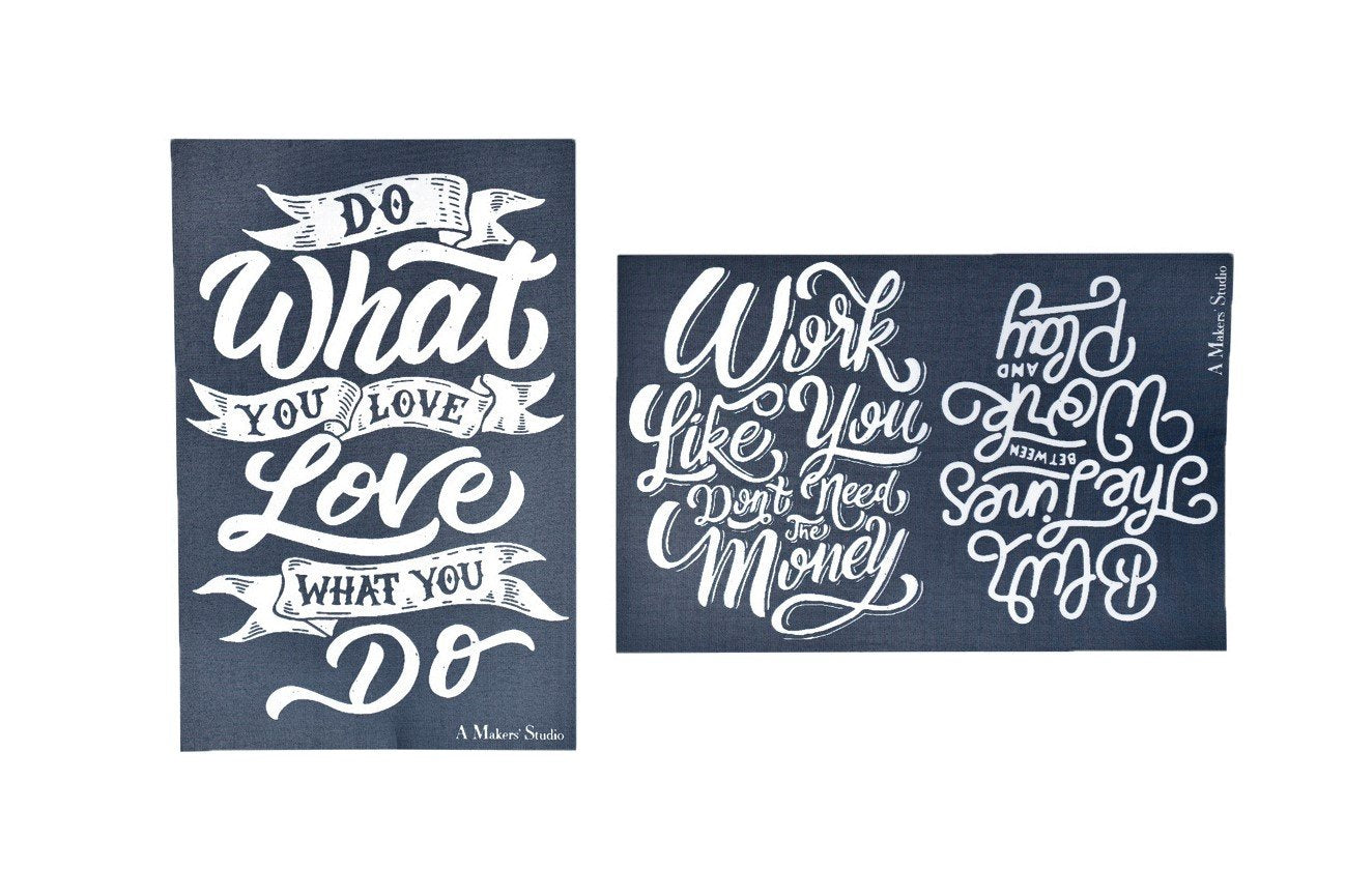 MESH STENCIL - 2 PACK - DO WHAT YOU LOVE - 5.5 X 8.5